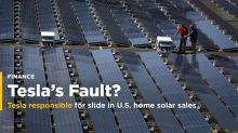 Tesla responsible for slide in U.S. home solar sales