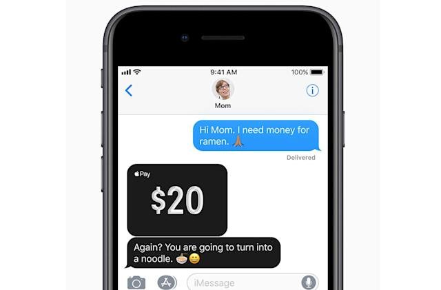 Apple's Venmo-like money transfers will arrive after iOS 11