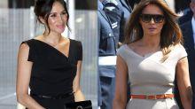 Melania Trump copies Duchess of Sussex' signature style for London landing