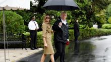 Melania Trump wears $1,590 dress and stilettos (again!) for second trip to Houston