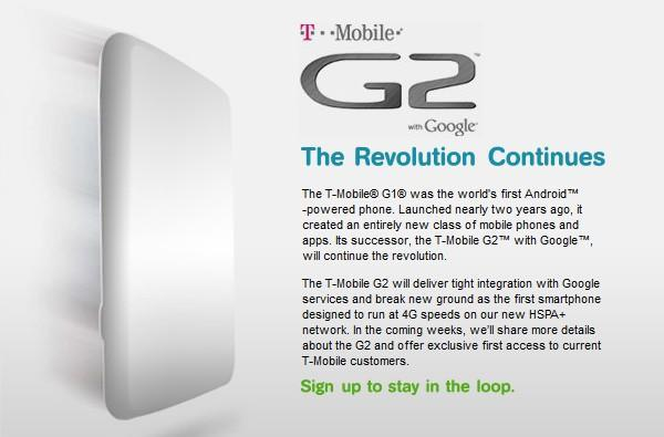 T-Mobile G2 gets a teaser site, will be network's first HSPA+ phone