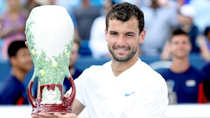Tennis podcast: Grigor Dimitrov delivers in Cincinnati; Garbine Muguruza hammers Simona Halep; Rafael Nadal back to world No 1