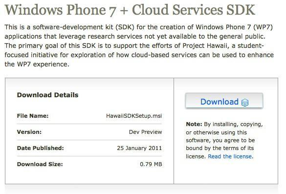 Microsoft posts Cloud Services SDK preview for Windows Phone 7