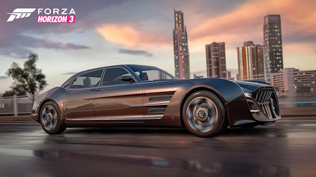 The 'Final Fantasy XV' bromobile invades 'Forza Horizon 3' next week