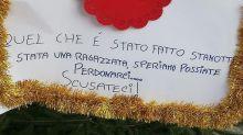 "S. Severo, vandali albero Natale si pentono e chiedono ""perdono"""