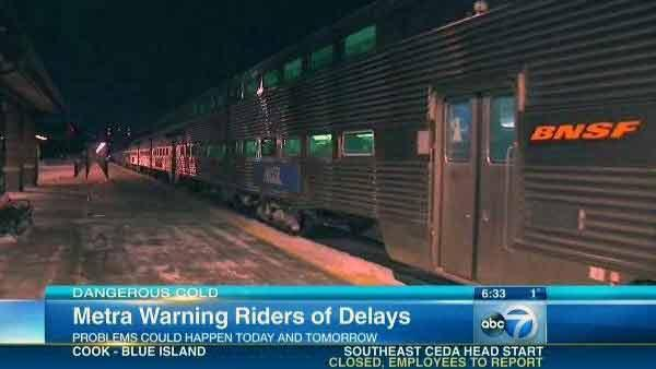 Metra riders coping with delays, extreme cold