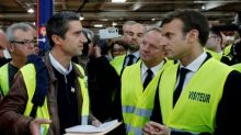 Macron seeks workers' backing with hometown factory visit