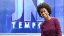 Maju entra na história como primeira jornalista negra do 'Jornal Nacional'