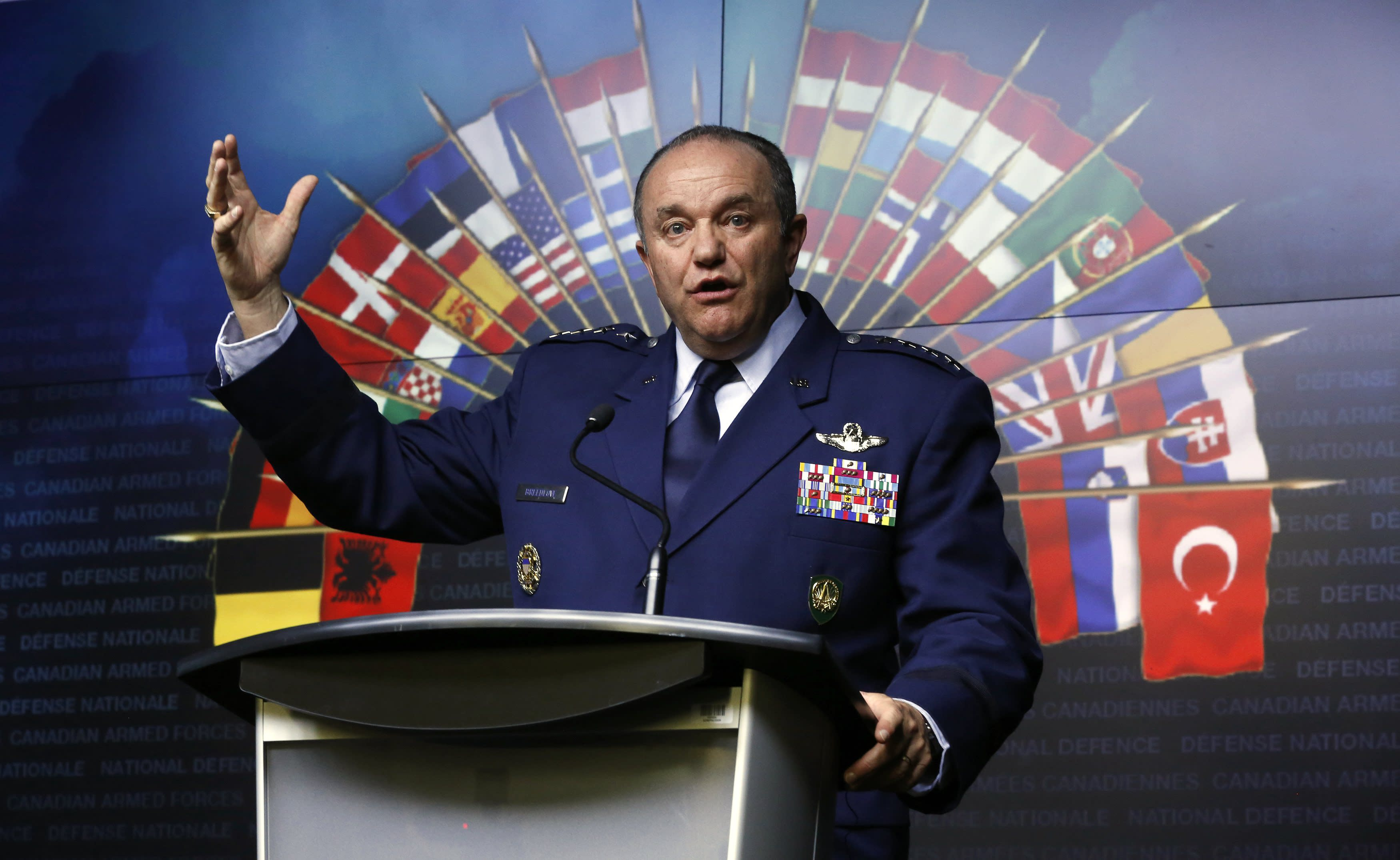 NATO Supreme Allied Commander Europe and Commander of the U.S. European Command General Philip Breedlove speaks during a news conference at the National Defence headquarters in Ottawa May 6, 2014. NATO will have to consider permanently stationing troops in eastern Europe as a result of the increased tension between Russia and Ukraine, the alliance's top military commander Breedlove said on Tuesday. REUTERS/Chris Wattie (CANADA - Tags: POLITICS MILITARY)