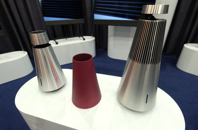 Bang and Olufsen's 360-degree speakers deliver sound in style