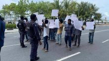 Maldives: Protest outside Chinese embassy against Beijing's treatement of Muslims