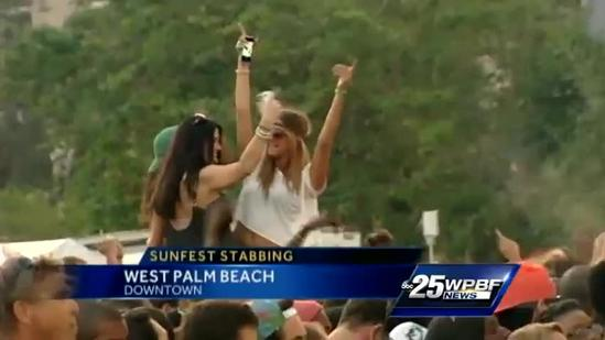 SunFest spokeswoman says stabbing is rare occurrence