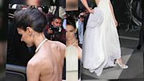 Katie Holmes Shows Off Her Bony Frame in Odd Backless Dress at Met Ball