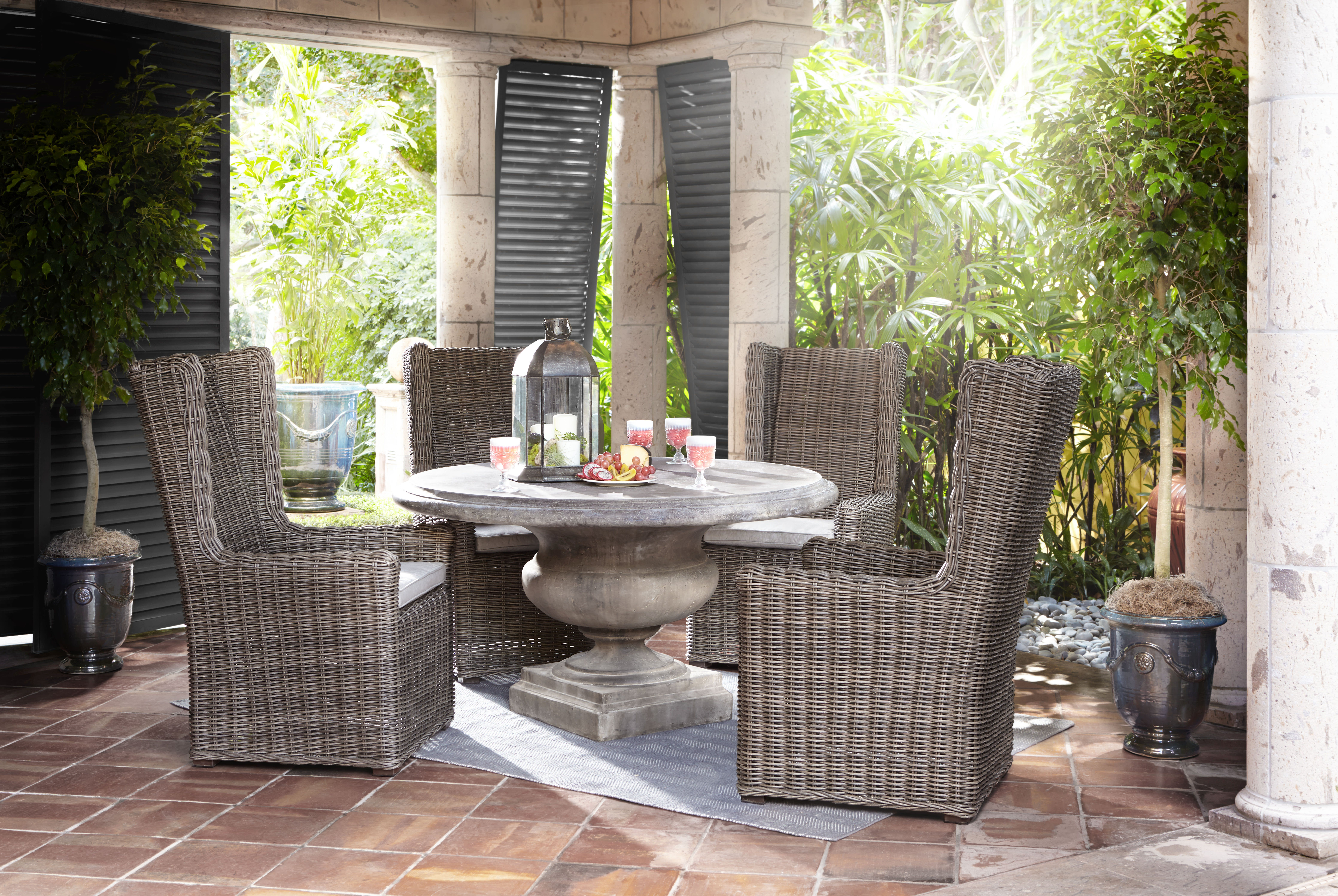 Arhaus expands on outdoor furniture offering with 150 all for Outdoor furniture 0 finance