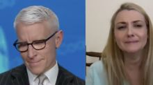 Anderson Cooper moved to tears by widow whose husband, 32 died from COVID-19