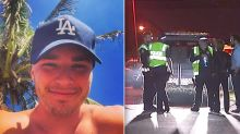 Gold Coast man killed after being hit by car 'while wrestling mate on road'