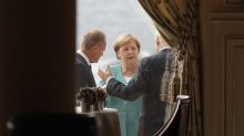 Even before photo op of G-7 allies, sharp elbows come out