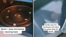 Mum's four-minute microwave cleaning hack goes viral