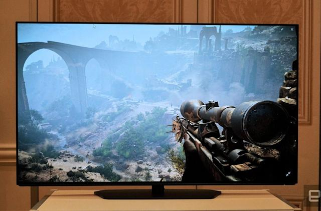 Alienware's 55-inch 4K OLED gaming monitor is pure eye candy