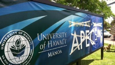 Protest March Over APEC Sign At UH