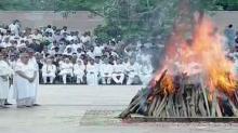 Photos: Atal Bihari Vajpayee consigned to flames at Smriti Sthal