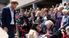Prince Harry & Meghan Markle Meet War Widow Daphne Dunn in Sydney
