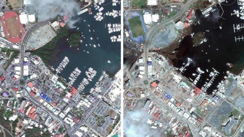 Aerial Before And After Photos Reveal Sobering Extent Of Irma's Devastation In The Caribbean