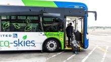 United Airlines rolls out eco-friendly employee buses