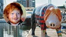 Ed Sheeran's bought a pig-shaped statue - of HIMSELF