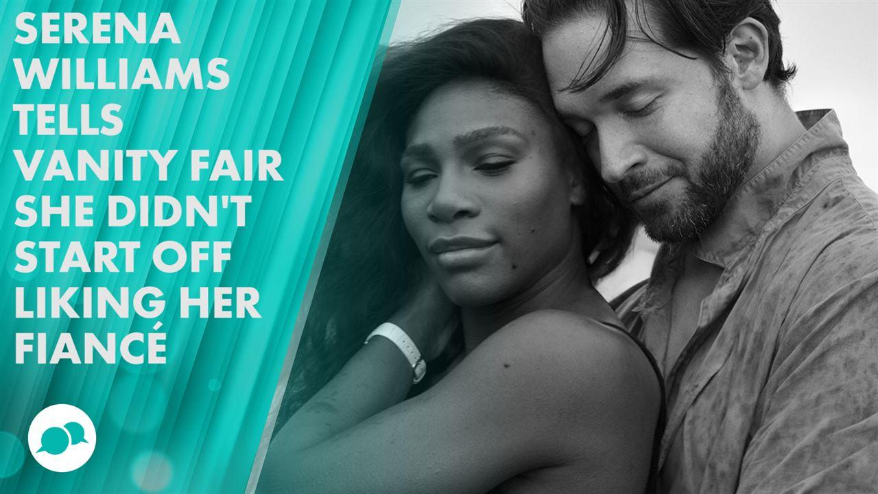 Serena williams and her fiance-7546