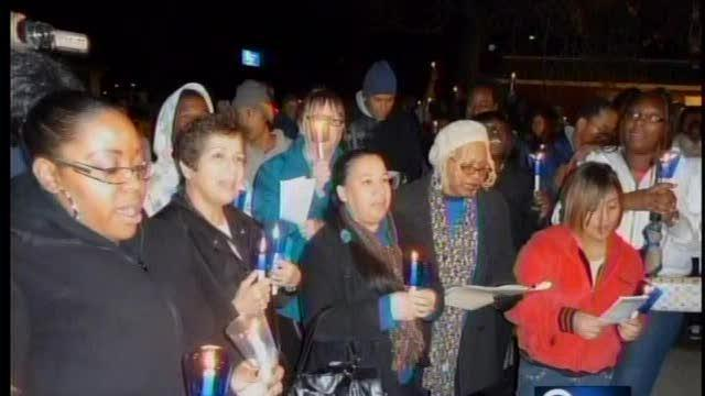 Candlelight vigil for homelessness