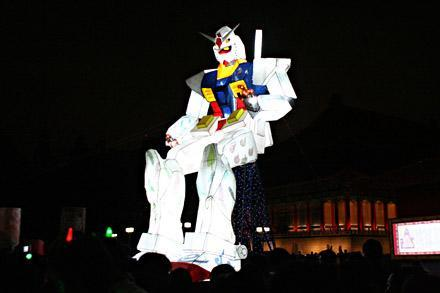 Gundam Lantern, 1:1 scale, lights up Taiwan lantern festival