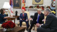 Trump threatens shutdown over border wall during heated meeting with Pelosi, Schumer