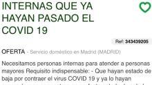 Peligroso gesto discriminatorio: Ofertas de empleo donde se exige ser inmune al Covid-19