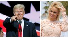 Hagamos un trío: Pamela Anderson tiene algo que decirle a Donald Trump