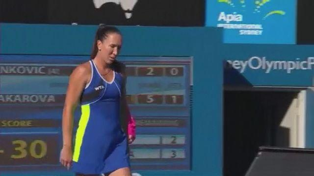 Jankovic crashes out in Sydney
