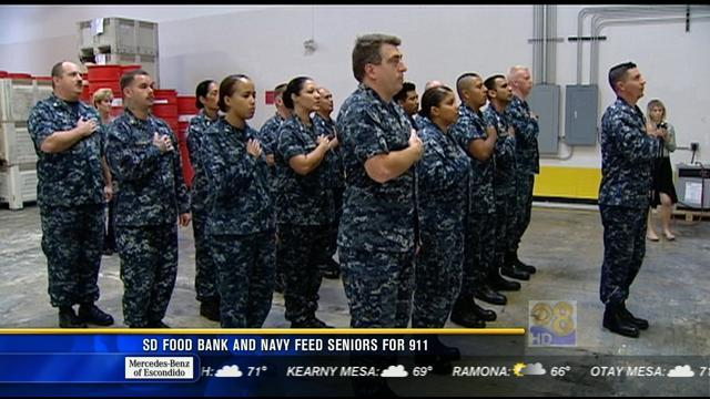 San Diego Food Bank and Navy feed seniors for 9/11
