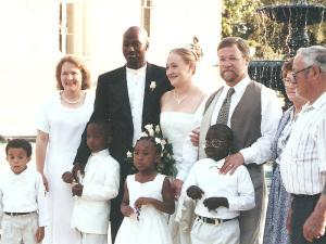Rachel Dolezal with her husband Kevin on their wedding day in 2000