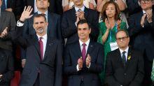 Tenso primer encuentro entre el rey de España y el presidente catalán