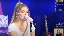 Em live, Luísa Sonza se emociona com música feita para Whindersson Nunes