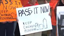 Supporters of bill protecting renters hold rally