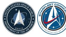 Trump presenta el logo de su Fuerza Espacial, muy parecido a la insignia de Star Trek