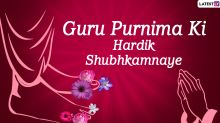 Guru Purnima 2020 Wishes in Hindi: WhatsApp Stickers, Facebook Greetings, GIFs, Instagram Status, Quotes, Messages And SMS to Send Teachers Thanking Them