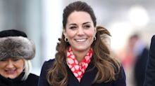 Kate Middleton bundles up with the perfect Valentine's Day accessory