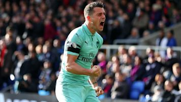 Xhaka puts improved form down to 'freak' Emery