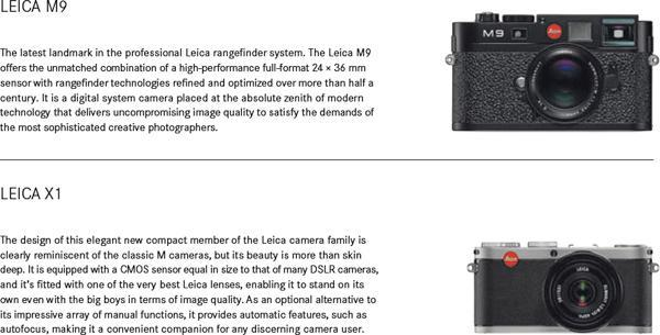 Leica M9 microsite and brochure leaked, new X1 details in tow