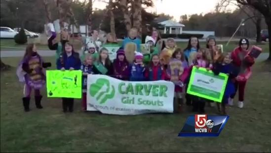 Wake up call: Carver Girl Scouts