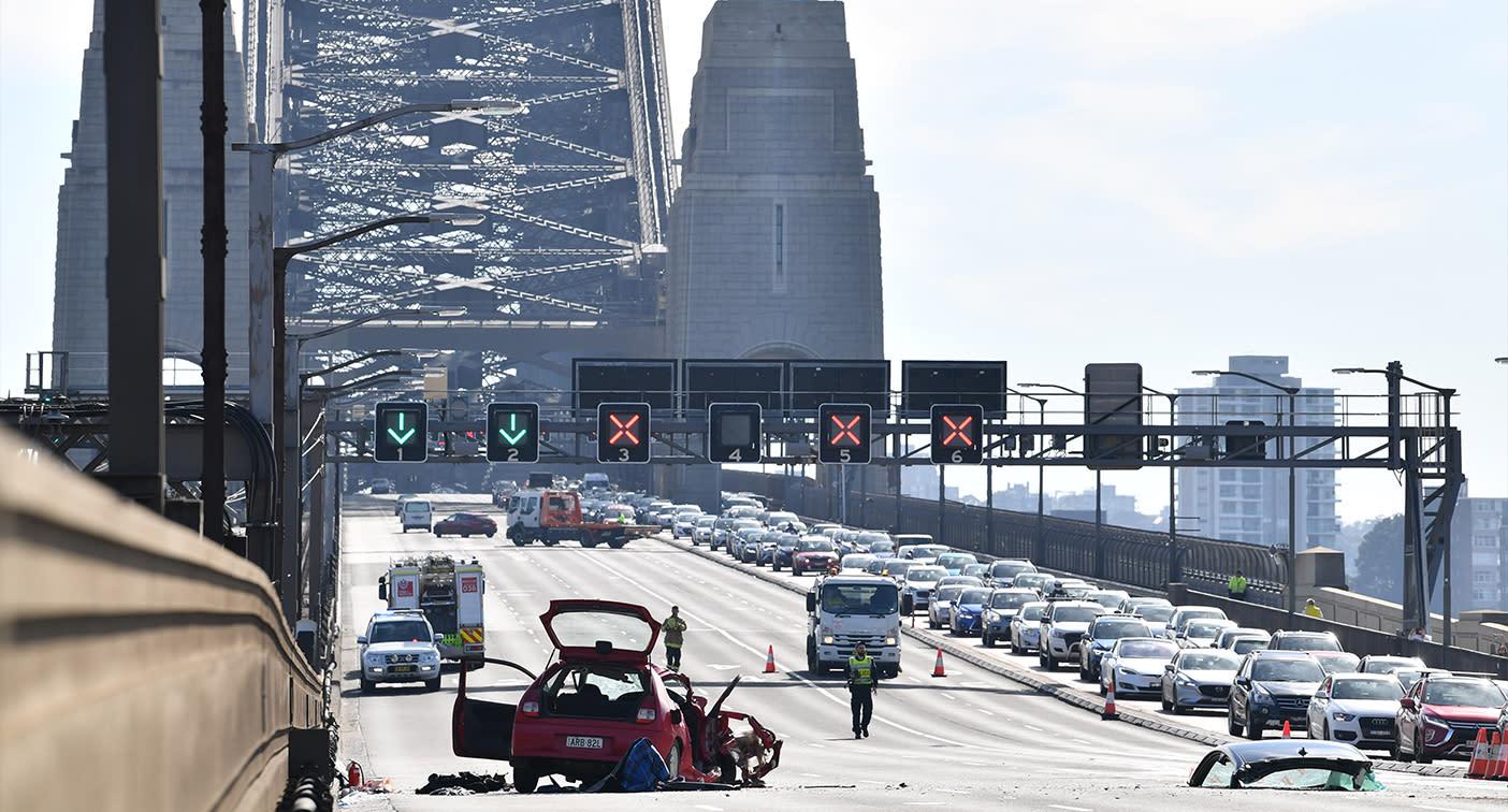 What caused horrific fatal car crash on Sydney Harbour Bridge