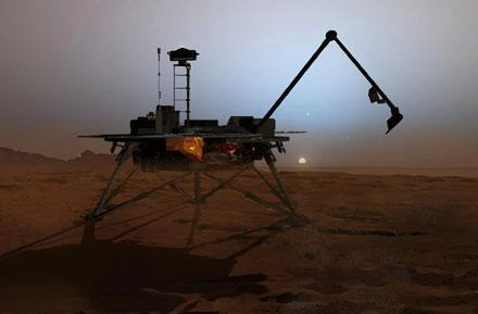Mars Phoenix lander to touch down on the red planet tonight