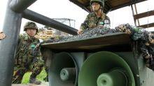 S. Korea halts border broadcasts ahead of Kim summit